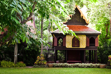 Thailand old house made of wood