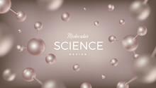 3d Molecules Vector Design. Sc...