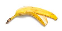 Banana Peel On A White Backgro...
