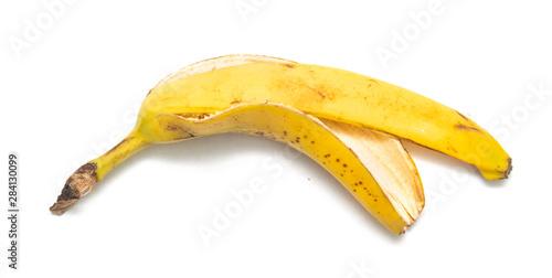 Pinturas sobre lienzo  banana peel on a white background, isolate