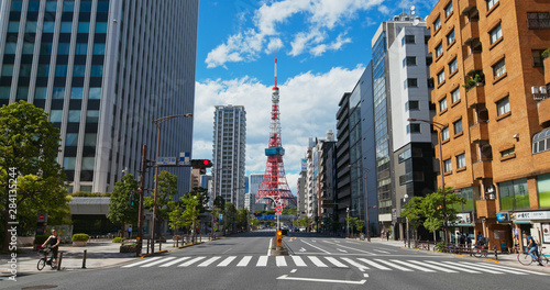 Tokyo tower in the city Canvas Print