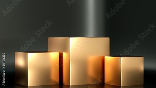 Fotografie, Obraz Beautiful, elegant background with a pedestal and a showcase