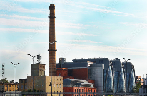 obraz PCV Lodz, sightseeing in Poland, famous architecture, factory concept