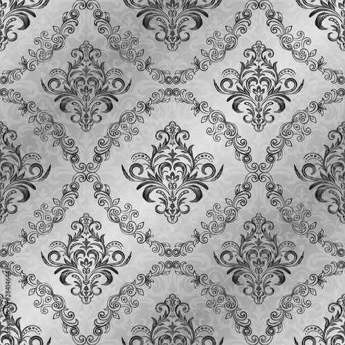 Fototapeta  Oriental vector pattern with arabesques and floral elements.