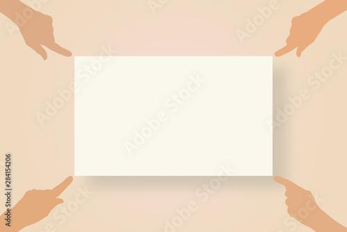 Fotomural  panneau de présentation