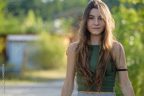 Bella Ragazza Modella giovane foto altissima qualità Canvas Print