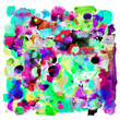 Abstract background with creative splashes and ink strokes effect.