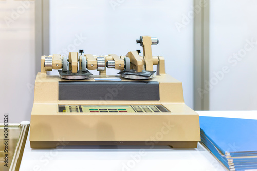 Canvas Print High technology abrasion Testing Instruments rotary type of industrial laborator