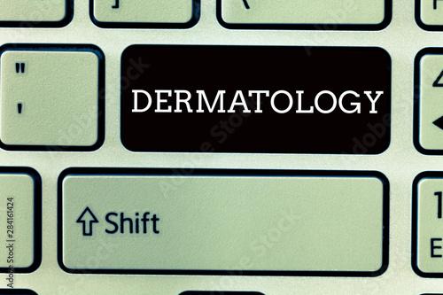 Text sign showing Dermatology Tapéta, Fotótapéta