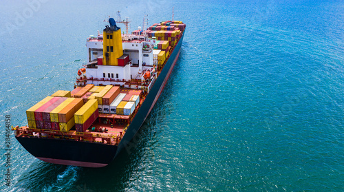 Foto Container Ship Vessel Cargo Carrier