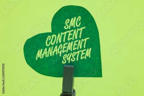 Conceptual hand writing showing Smc Content Management System Canvas Print
