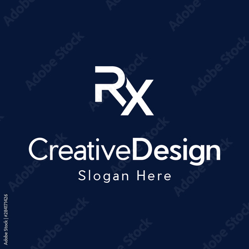 Letter RX Creative Business Logo Design Canvas-taulu
