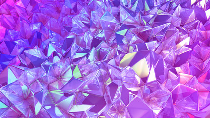 Crystal triangle background...