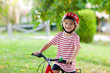 Leinwandbild Motiv Kids on bike. Child on bicycle. Kid cycling.