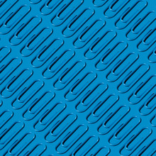 Blue Paper Clip Pattern On Blue