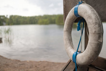 Lifesaver Or Lifebuoy At The Lake For Rescuer