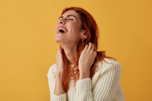 Joyful Woman Laughing