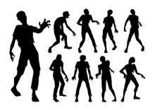 Male Zombie Standing And Walki...