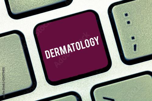 Fényképezés  Handwriting text writing Dermatology