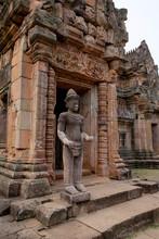 Thailand, Buri Ram Province, Khmer Temple, Prasat Phanom Rung, Temple And Sculpture
