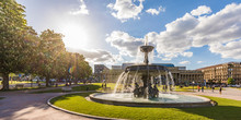 Palace Square With Fountain In...