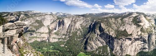 Photo Panorámica del Parque nacional de Yosemite desde el Glacier point 2, California,