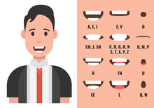 Male Mouth Animation. Phoneme ...