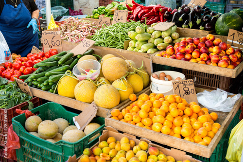 fruits and vegetables at the market © Юлия Кутузова