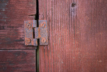 Macro View Of Rusty Hinge On O...