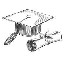 Graduate Cap And Diploma, Educ...