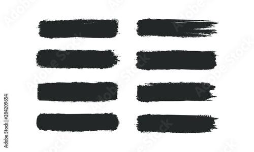 Fotografia Brush stroke set isolated on white background