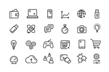 Line Icon Set. Collection Vect...