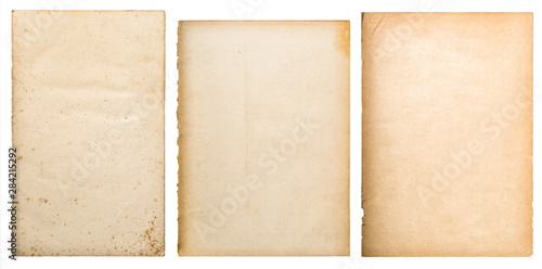 Cuadros en Lienzo  Old paper texture background worn book page isolated