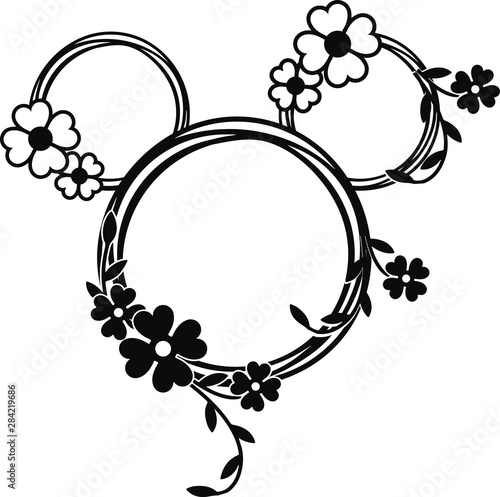 Fotografie, Obraz Mickey Mouse / minnie mouse head eps