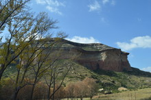 Mushroom Rocks In The Golden Gate Highlands National Park In Clarens In South Africa