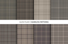 Set Of Glen Check Seamless Pat...