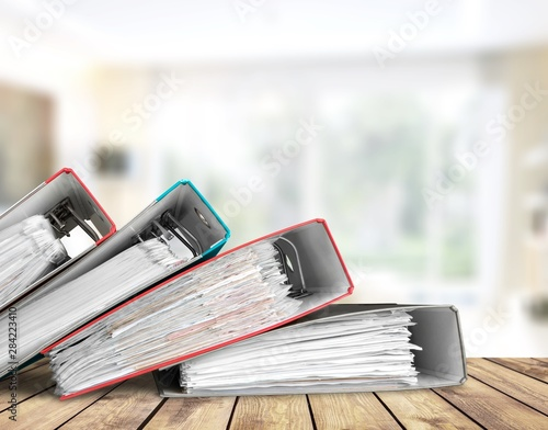 Canvas Prints Equestrian File folders with documents on background