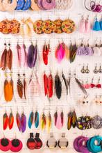 Earrings In A Small Shop In Th...