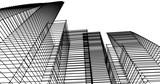 Fototapeta Do przedpokoju - Modern building architecture 3d illustration