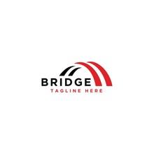 Bridge Simple Modern Logo Vector