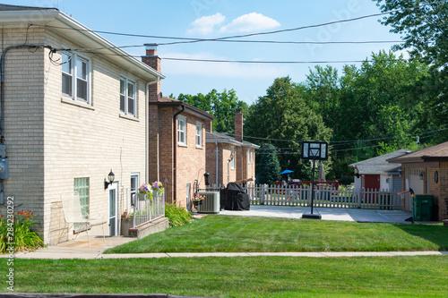 Foto op Plexiglas Stadion Simple Backyards at Old Midwestern Homes
