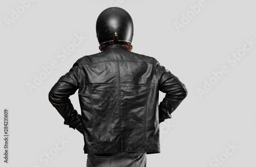 motorbike rider back pose Fototapete
