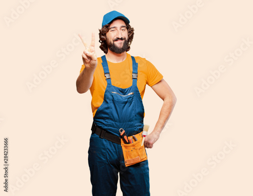 Fotografie, Obraz  handyman worker satisfied and proud