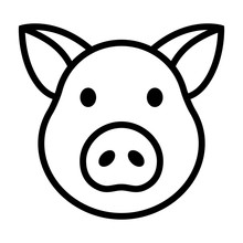 Pig Head / Face Or Pork Bacon ...