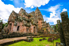 Phanom Rung Historical Park Is Castle Rock Old Architecture About A Thousand Years Ago At Buriram Province,Thailand.