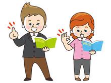 英語教師の外国人男女