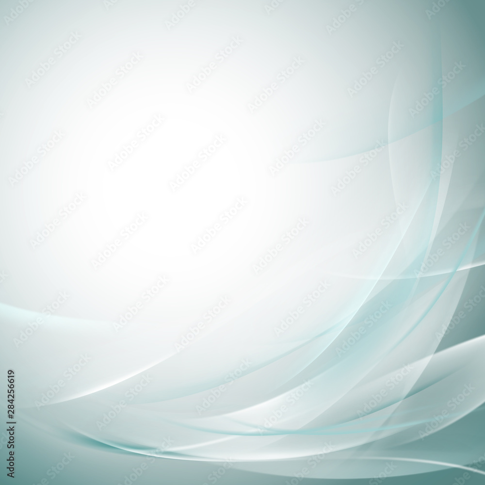 Fototapety, obrazy: Abstract smooth bright flow background for nature  tech or science concept presentation, Vector illustration