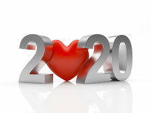 Silver Text 2020 New Year And ...