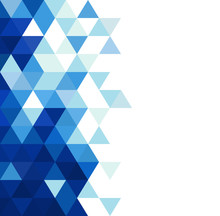 Abstract Blue Triangle Modern Template For Business Or Technology Presentation And Space For Text, Vector Illustration