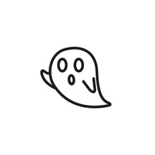 Ghost Line Icon. Creature, Pol...